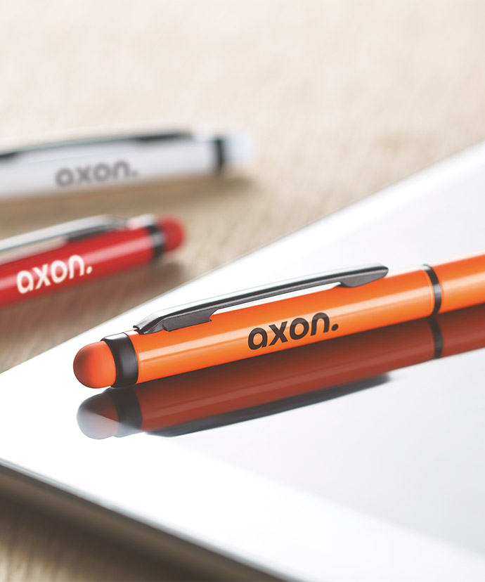 En penna som visar en populär tryckplacering.