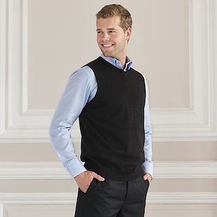 Russel V-Neck Sleeveless Knitted Pullover 716M