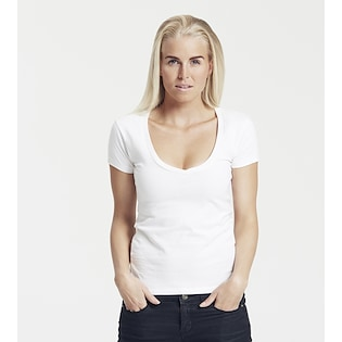 Neutral Ladies Deep V-Neck T-shirt