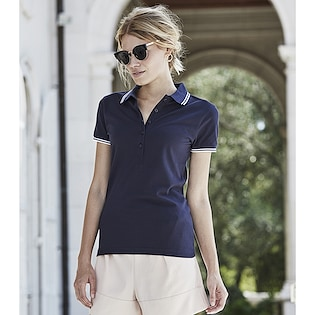 Tee Jays Ladies Stripe Stretch Polo