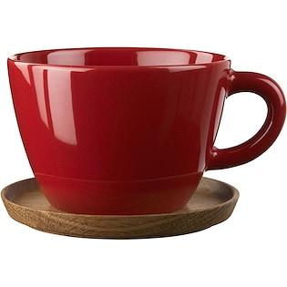 Höganäs Keramik Temugg med Träfat