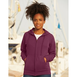 Fruit of the Loom Ladies Lightweight Hooded Sweat Jacket