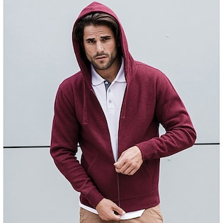 Russel Authentic Melange Zipped Hood Sweat 263M