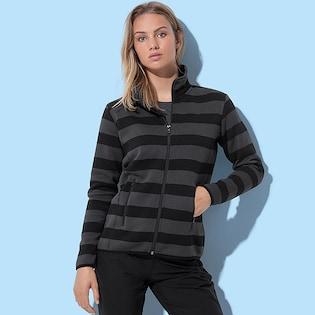 Stedman Ladies Active Striped Fleece Jacket