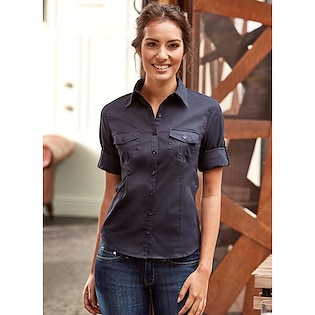 Russel Ladies´ Roll 3/4 Sleeve Fitted Twill Shirt 918F