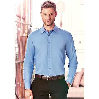Russel Men´s Long Sleeve Fitted Polycotton Shirt 924M