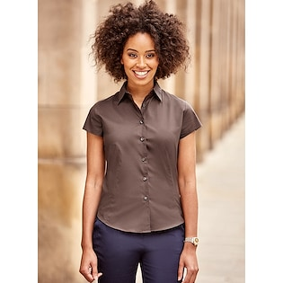 Russel Ladies´ Short Sleeve Fitted Stretch Shirt 947F