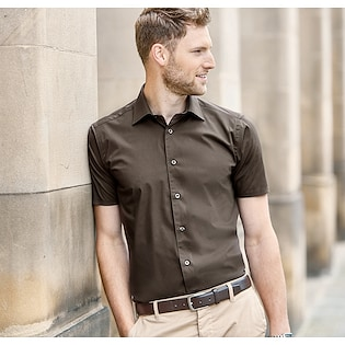 Russel Men´s Short Sleeve Fitted Stretch Shirt 947M