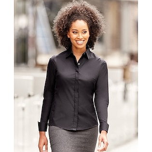 Russel Ladies´s Long Sleeve Fitted Stretch Shirt 960F