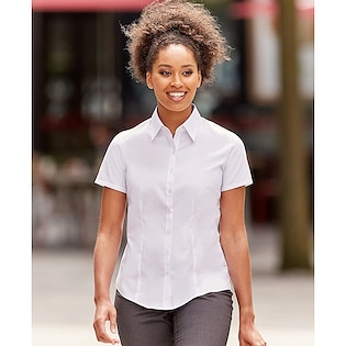 Russel Ladies´ Short Sleeve Fitted Stretch Shirt 961F