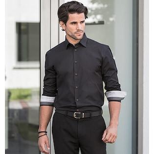 Russel Men´s Long Sleeve Contrast Stretch Shirt 966M