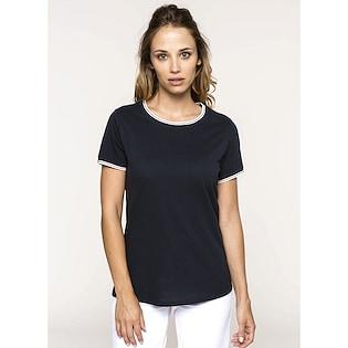 Kariban Ladies´ Pique Knit Crew Neck T-shirt