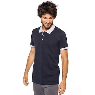 Kariban Men´s Two-tone Pique Polo Shirt