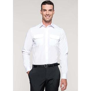 Kariban Men´s Long-Sleeved Pilot Shirt