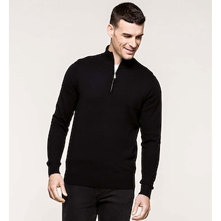 Kariban Men´s Zip Neck Jumper
