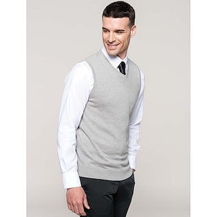 Kariban Men´s Sleeveless V-Neck Jumper