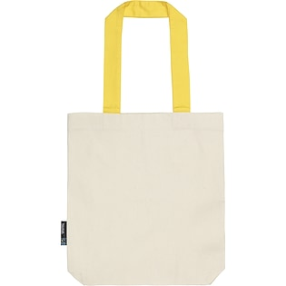 Neutral Twill Contrast Bag