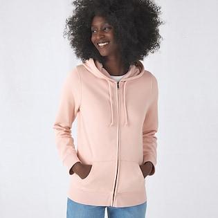 B&C Organic Zipped Hood Women