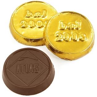 Schokoladenmünze Knox, 30 mm