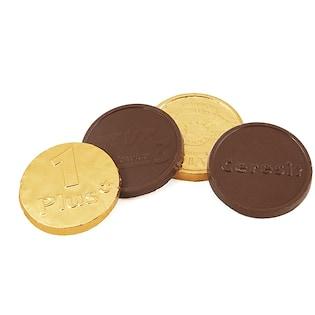 Schokoladenmünze Faust, 55 mm