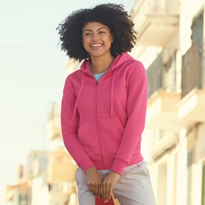 FOTL Lady-Fit Premium Hooded Sweat Jacket