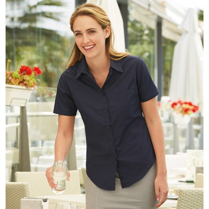 FOTL Lady-Fit Short Sleeve Poplin Shirt