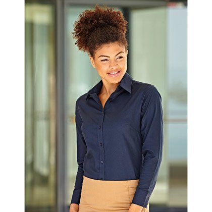 FOTL Lady-Fit Long Sleeve Oxford Shirt