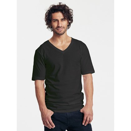 Neutral Mens Deep V-Neck T-shirt