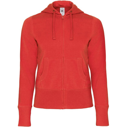 B&C Hooded Full Zip Women