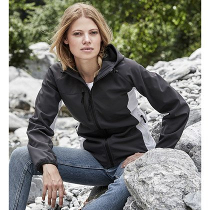 Tee Jays Ladies Hooded Lightweight Performance Softshell