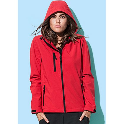 Stedman Ladies Active Softest Shell Hooded Jacket