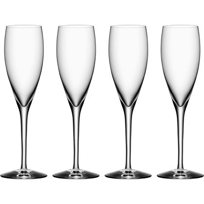 Orrefors More Champagne, 4-pack