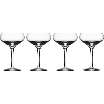 Orrefors More Coupe, 4-Pack