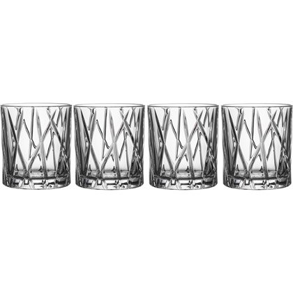 Orrefors City Old Fashion Whiskeyglas, 4-pack