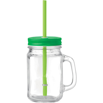 Glasbecher Straw
