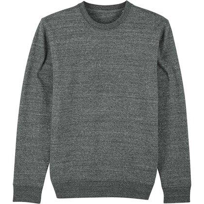slub heather steel grey