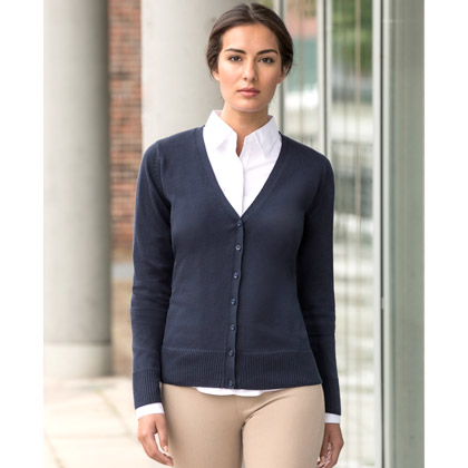 Russell Ladies´ V-Neck Knitted Cardigan 715F