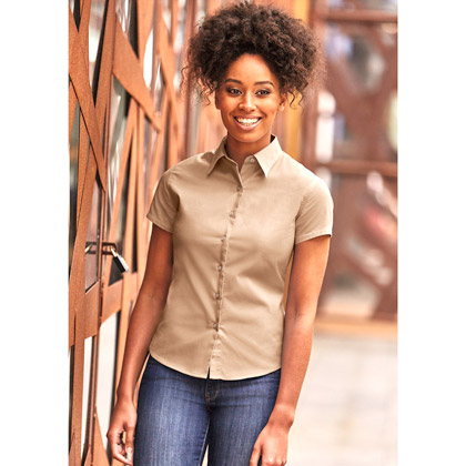 Russell Ladies´ Short Sleeve Classic Twilll Shirt 917F