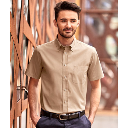 Russell Mens Short Sleeve Classic Twill Shirt 917M
