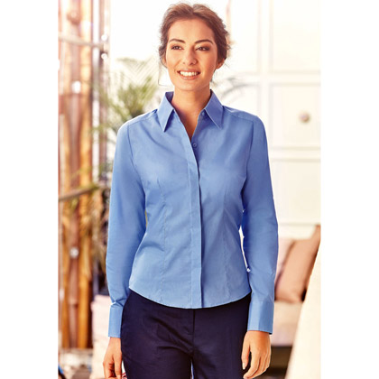Russell Ladies´ Long Sleeve Fitted Polycotton Bluse 924F