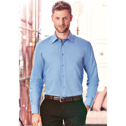 Russell Men´s Long Sleeve Fitted Polycotton Shirt 924M