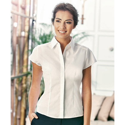 Russell Ladies´ Cap Sleeve Fitted Polycotton Shirt 925F