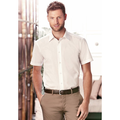 Russell Men´s Cap Sleeve Fitted Polycotton Poplin Shirt 925M