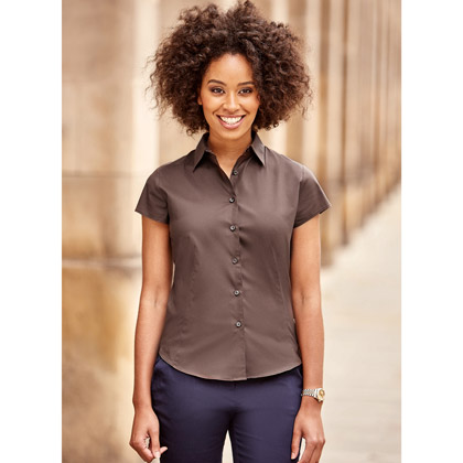 Russell Ladies´ Short Sleeve Fitted Stretch Shirt 947F