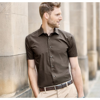 Russell Men´s Short Sleeve Fitted Stretch Shirt 947M