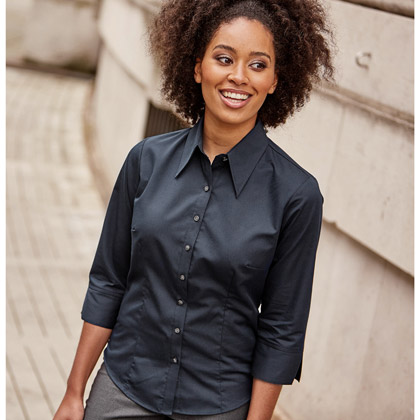 Russell Ladies´ 3/4 Sleeve Fitted Tencel® Shirt 954F