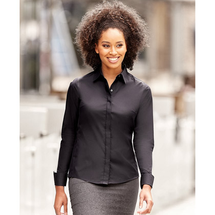 Russell Ladies´s Long Sleeve Fitted Stretch Shirt 960F
