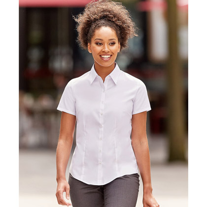 Russell Ladies´ Short Sleeve Fitted Stretch Shirt 961F