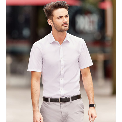 Russell Men´s Short Sleeve Fitted Stretch Shirt 961M