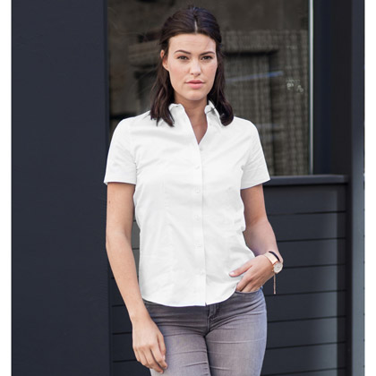 Russell Ladies´ Short Sleeve Tailored Coolmax® Shirt 973F